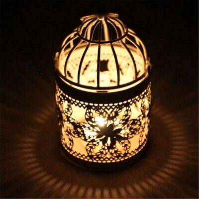 Romantic Hollow Hanging Bird Cage Candle Holder Lantern Wedding Home Decor YG