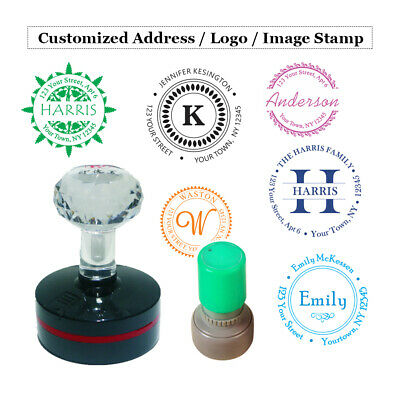 Round Custom Self Inking Stamp - Personalized Signature Image Address Logo Stamp