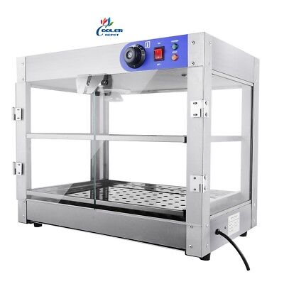 New 24 Commercial Warmer Display Case Hot Food Pizza Pastry Pan Model H30
