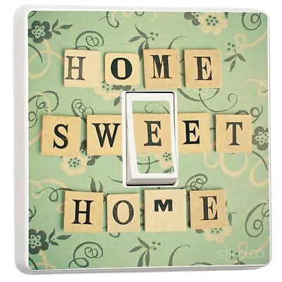 gn Single Light Switch Cover Adhesive Vinyl Sticker Decor (Home Sweet Home Decor)