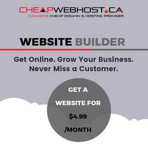 Get Your Website Ready Tonight For Just $4.99/month. Get online. Grow your business. Never miss a customer.
