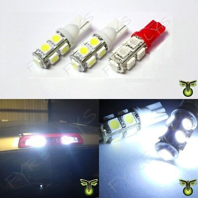 2 White 1 Red LED Truck Cargo Area Bed Lights & 3rd Third Brake light bulbs
