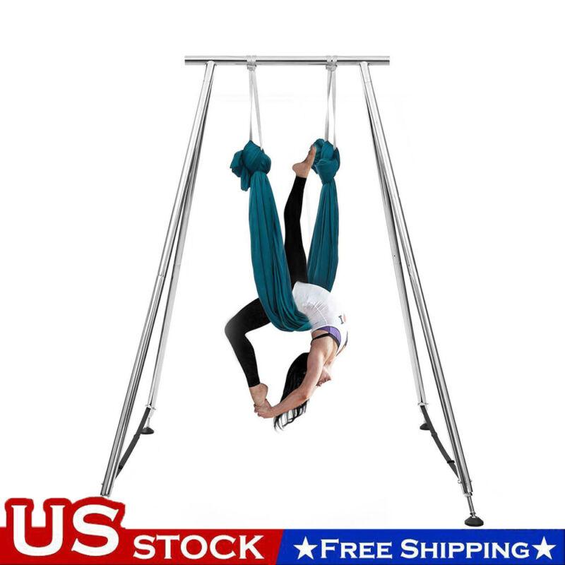 Yoga Aerial Trapeze Stand Aerial Rig Yoga Swing Hammock Frame W/20ft Aerial Silk