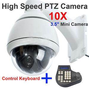 10x Zoom SONY CCD 700TVL High Speed PTZ Dome CCTV MiNi Camera + Keyboard Control
