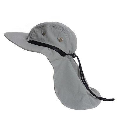 Neck Flap Boonie Hat Fishing Hiking Safari Outdoor Sun Brim Bucket Bush Cap  Hot 04c442a86b53