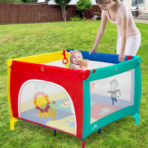 Portable Baby Playpen Playard Mattress Safety Baby Play Pen Yard for Boys Girls