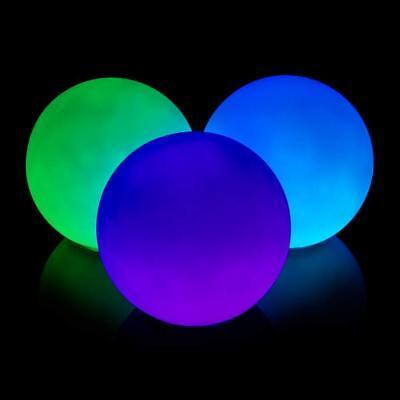 Illuminated Multicolor juggling ball set of 3 complete battery power light up  - Light Up Juggling Balls