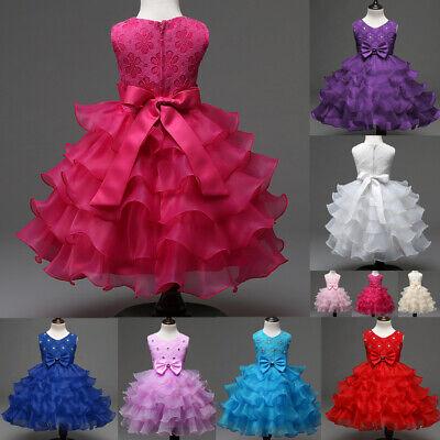 Tutu Dress Costume (Girl Baby Princess Formal Tutu Dress Kids Birthday Party Wedding Pageant)