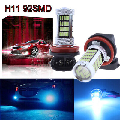 H11 H8 H9 H16 4014 92SMD LED Fog Light Conversion Kit PLUG N PLAY 8000K Ice