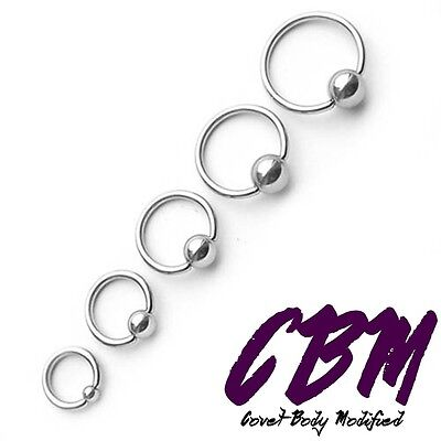 16g 14g Captive Bead Ring Stainless Steel Labret Lip Monroe Tragus Stud - 14g Labret Ring