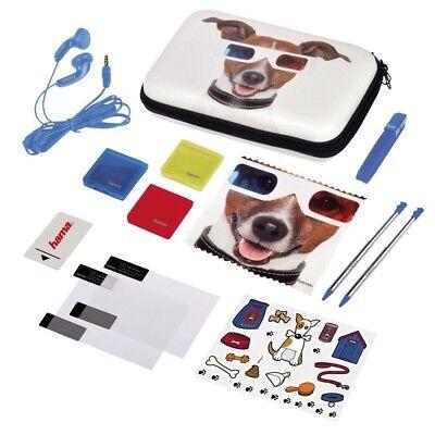Hama Kit d'accessoires pour Nintendo 3DS XL, 13 pièces, Happy Dog, Neuf