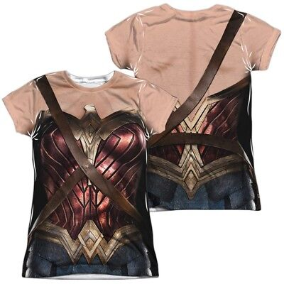 Justice League Movie Wonder Woman Costume Uniform Allover Front Back T-shirt top](Top Movie Costumes)