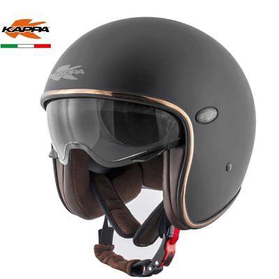 Geändert Bekleidung (KAPPA Jet-Helm KV29 Basic matte black alte h-d 1690 fld Dyna Jahrgang geändert.)