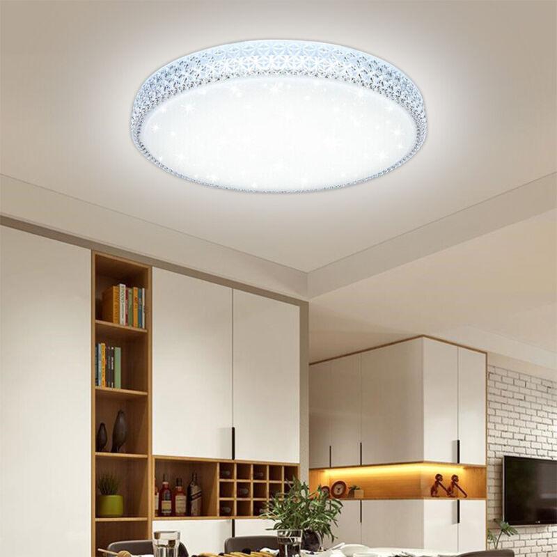 48W LED Kristall Deckenleuchte Panel Badlampe Esszimme Wohnzimmer Wandlampe Lamp