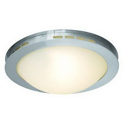 Brushed Steel And Opal Glass Flush Mount Ceiling Light 18