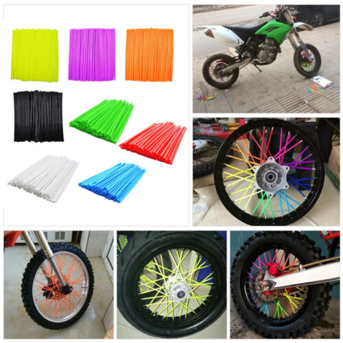 72pc Wheel Spoke Wrap Kit Rim Skin Cover Guard Protector Pit Dirt Bike