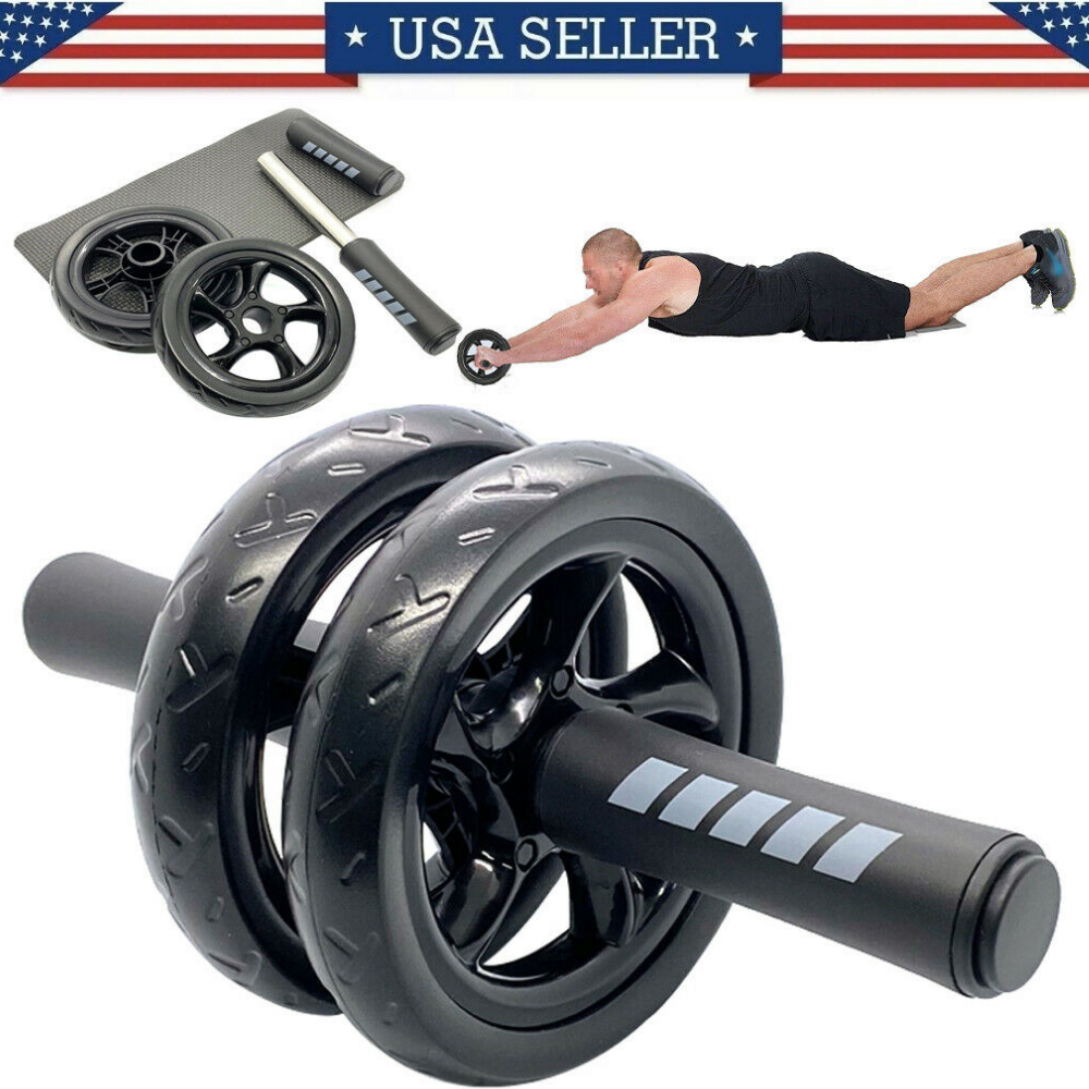 Ab Roller Wheel Abdominal Fitness Gym Exercise Equipment Core Workout Training Abdominal Exercisers