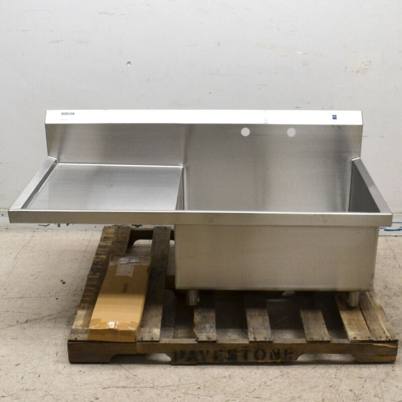 "Elkay Stainless Steel Scullery Sink Commercial Kitchen Bar 14"" Deep w/Drainboard"