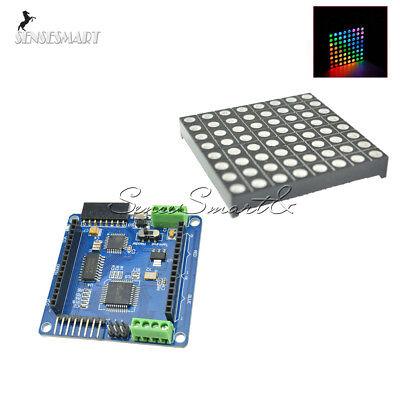 5mm Color Rgb Dot Matrix Led Display Shield Atmega328p 88 8x8 For Arduino