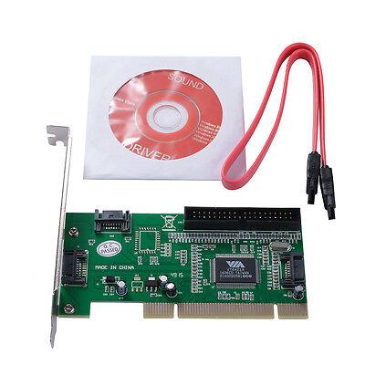 3 SATA + 1 Port IDE to PCI RAID Karte Kontroller Adapter Converter VIA6421 AC388
