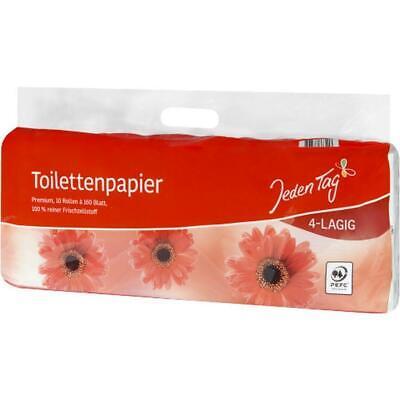 JedenTag Toilettenpapier 4-lagig 10x160bl