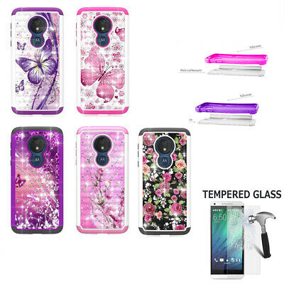 Absorbing Crystal - Phone Case For Straight Talk Moto G7 Optimo Maxx shock absorbing Crystal Cover