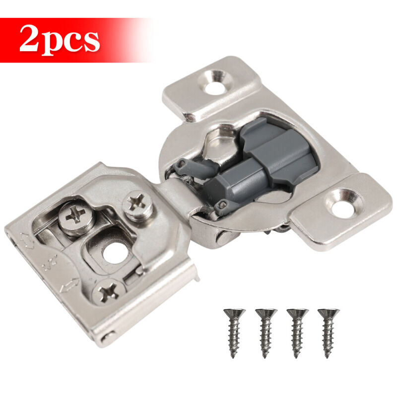 """20 Pcs 1/2"""" Overlay Soft Close Hinge Face Frame 105° Compact Cabinet Hinges"""