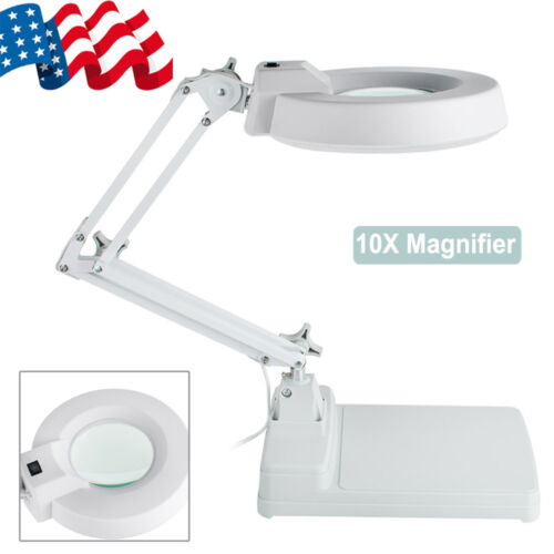 12X Magnifier Folding Linen Tester Glass Jewelry Magnifying With LED Light