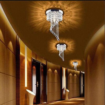 """Modern 7.9"""" Crystal Chandelier Pendeant Ceiling Lamp LED Light Home Decor E12"""