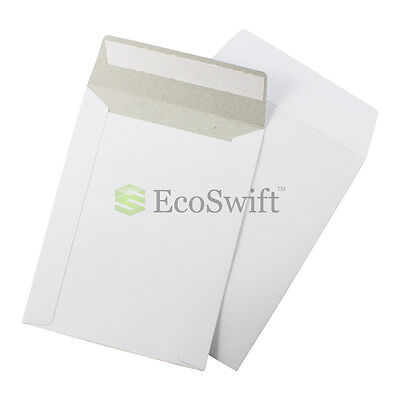 25 - 6 X 8 White Cddvd Photo Ship Flats Cardboard Envelope Mailer Mailers 6x8