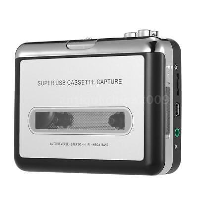Portable USB Cassette Tape-to-MP3 Converter Capture HiFi Audio Music Player V0K4