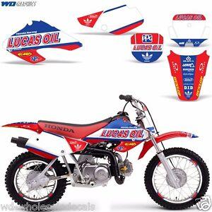 Graphic Kit Honda XR 70 R MX Dirt Pit Bike Decals Sticker Wrap XR70 2001-2003 LO
