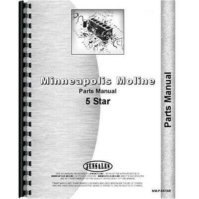 New Minneapolis Moline 5 Star Tractor Parts Manual