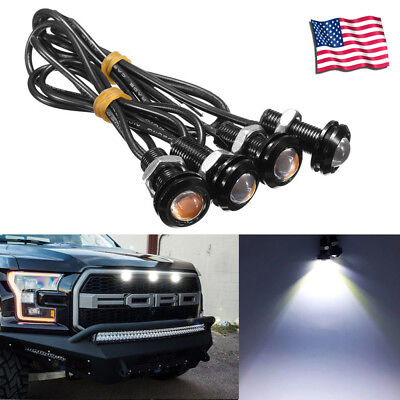 4pc Ford SVT Raptor Style LED White Grille Lighting Kit, Universal Fit Truck SUV
