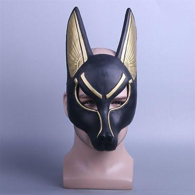 Egyptian Anubis Mask Halloween Cosplay PVC Wolf Masquerade Mask Party Props - Anubis Mask Halloween