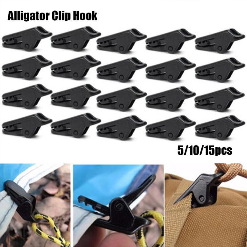Tents Clamp Alligator clip Fasten Accessories 15pcs Black High quality