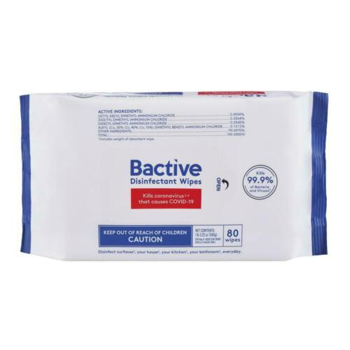 5 Packs 400 Wipes Bactive Disinfective Cleaning Wipes Kills 99.9% Bacteria
