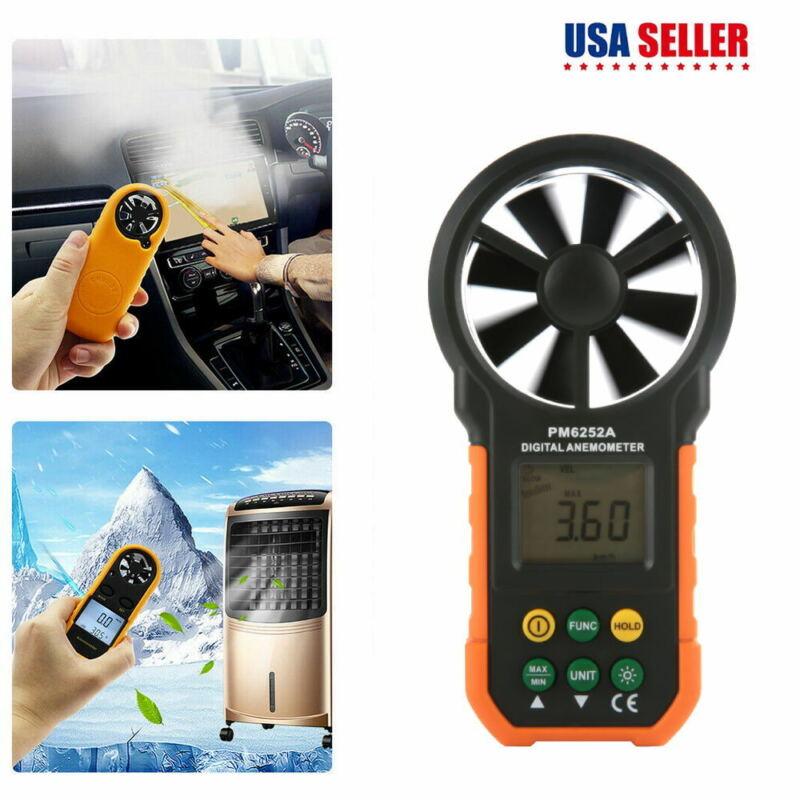 PEAKMETER PM6252A Digital LCD Anemometer Handheld Air Wind Speed Meter Tester
