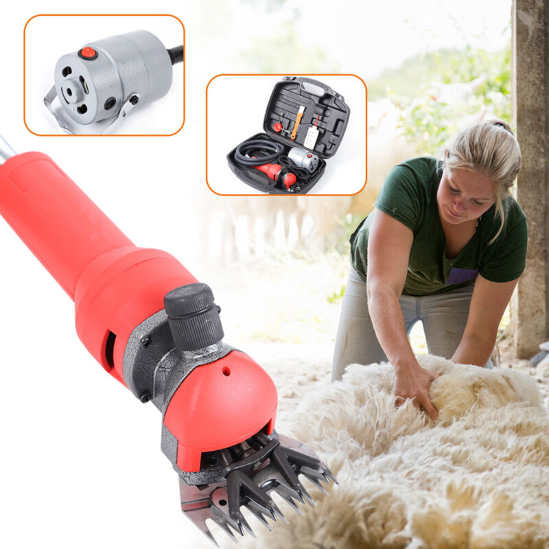 Electric Shave Sheep Goat Shears Clippers Flexible Animal Shearing Grooming Farm