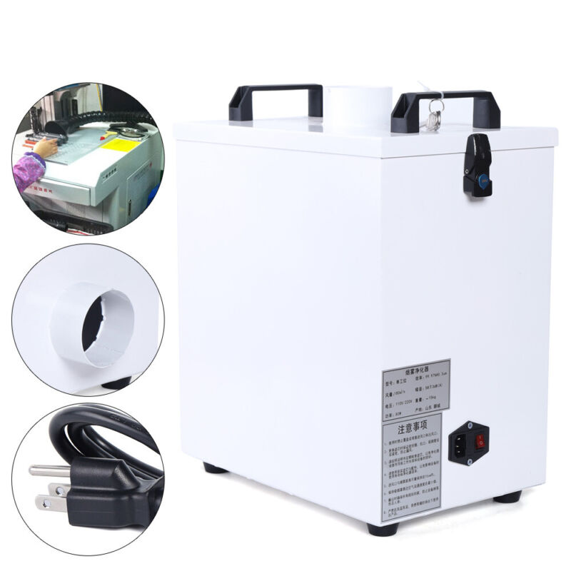 80W Air Fume Extractor Smoke Purifier for CNC Laser Engraving Machine