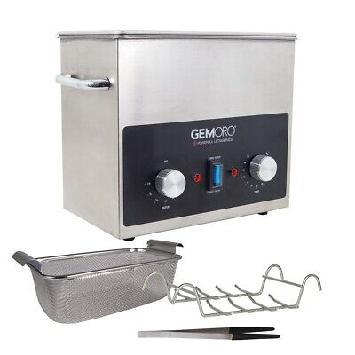 New Gemoro 3qth Next Gen Stainless Steel Ultrasonic Jewelry Cleaner With Basket