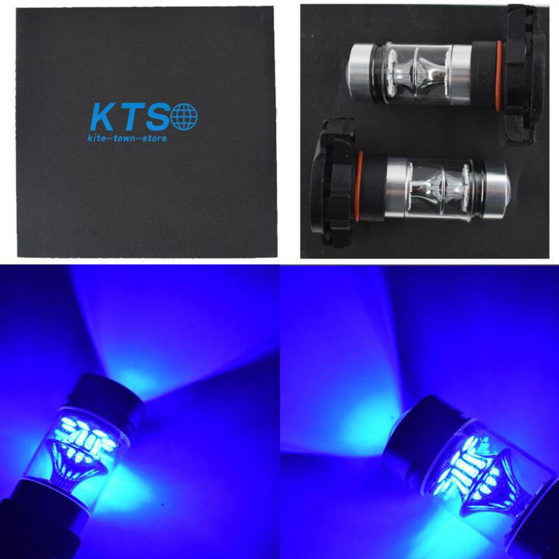 H16 5202 PS24WFF 14000K Purple 100W LED Headlight Bulbs Kit Fog Light Pair
