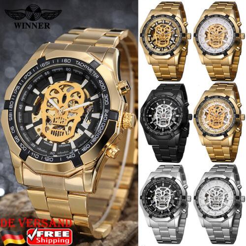 DE Herren Luxus Armbanduhr Edelstahl Sport Automatikuhr Mode Watch Geschenk Uhr