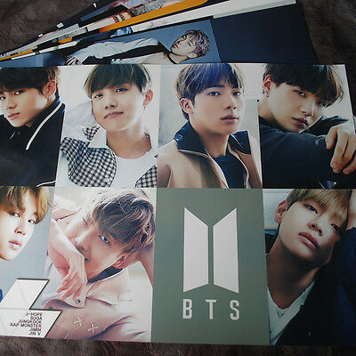 BTS 12 Posters (12PCS) Collection BANGTAN BOY Bromide + A4 BTS PHOTO Sticker !!