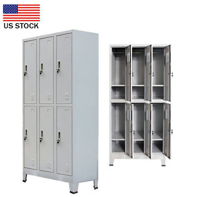 US Sell 6 Compartment  Metal school gym storage employee-lockers cabinets -