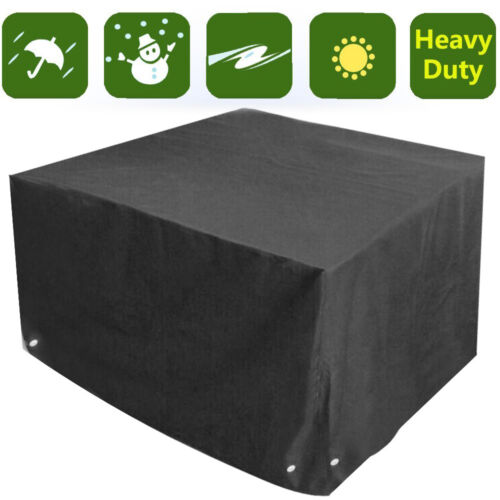 UK WATERPROOF GARDEN PATIO FURNITURE SET COVER COVERS RATTAN TABLE CUBE OUTDO