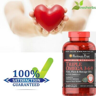 #1 BEST HEART SUPPORT DIETARY SUPPLEMENT JOINTS HEALTH OMEGA 3-6-9 240