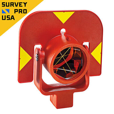 New - Leica Style Gpr111 Circular Prism With Holder For Total Station Survey