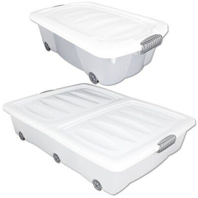 Unterbettkommode Plastikbox Unterbettbox Truhe Kiste Box Rollbox Container Bett