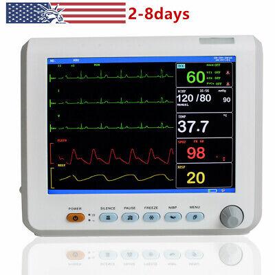 8 Inch Vital Sign Patient Monitor Ecg Nibp Resp Temp Spo2 Pr Hospital Item Fast